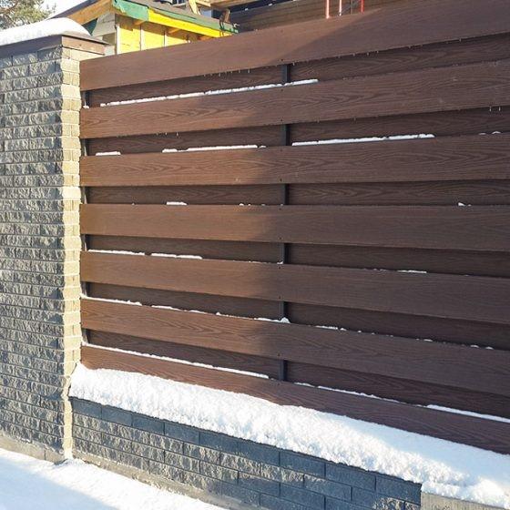 Забор из декоративных панелей HOLZDORF Импресс