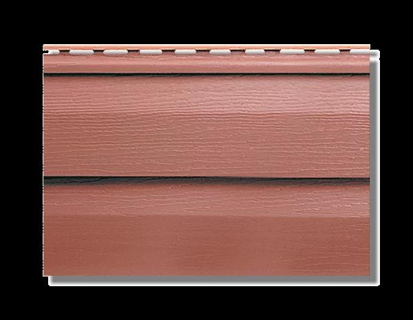 Сайдинг коллекция KANADA+ Премиум красно-коричневый