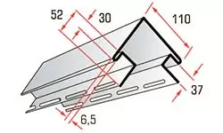 Наружный угол для сайдинга блокхаус
