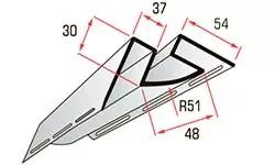 Внутренний угол для сайдинга блокхаус