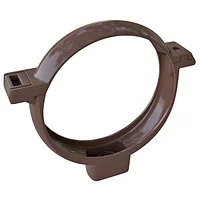 Хомут трубы ПВХ «Элит» коричневый, графитовый