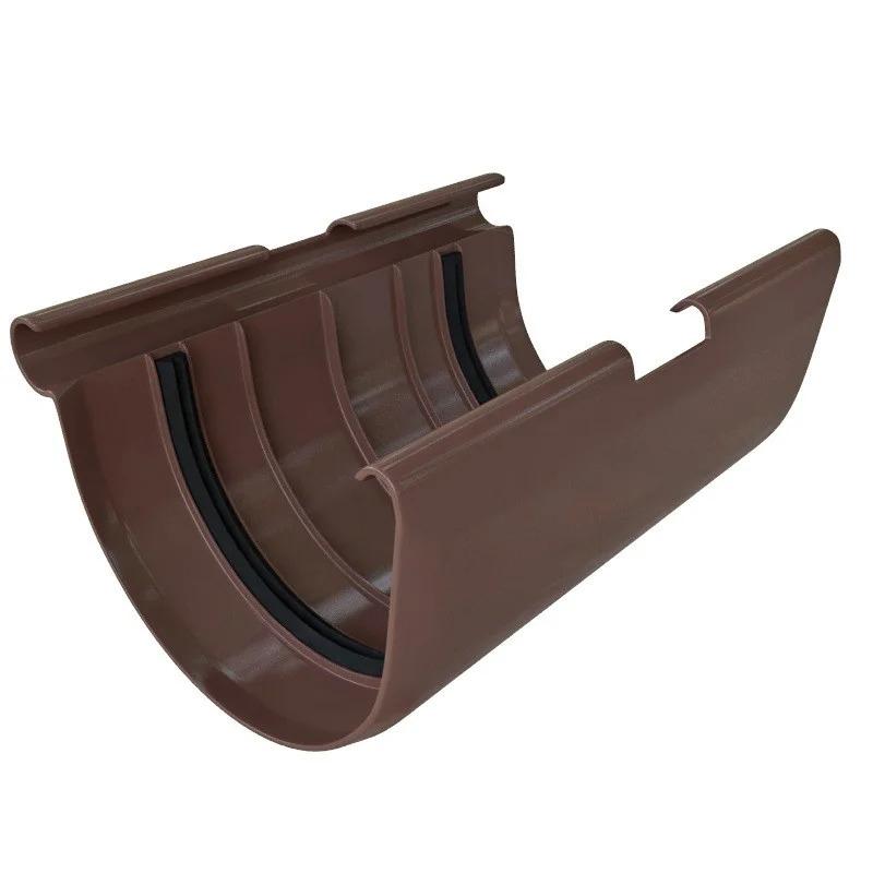 Муфта желоба «Элит» d125 коричневая
