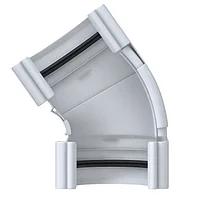 Угол желоба «Элит» d125мм 120º-145º регулируемый белый