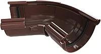 Угол желоба «Элит» d125мм 120º-145º регулируемый коричневый, графитовый