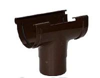 Воронка водосточная «Элит» коричневая