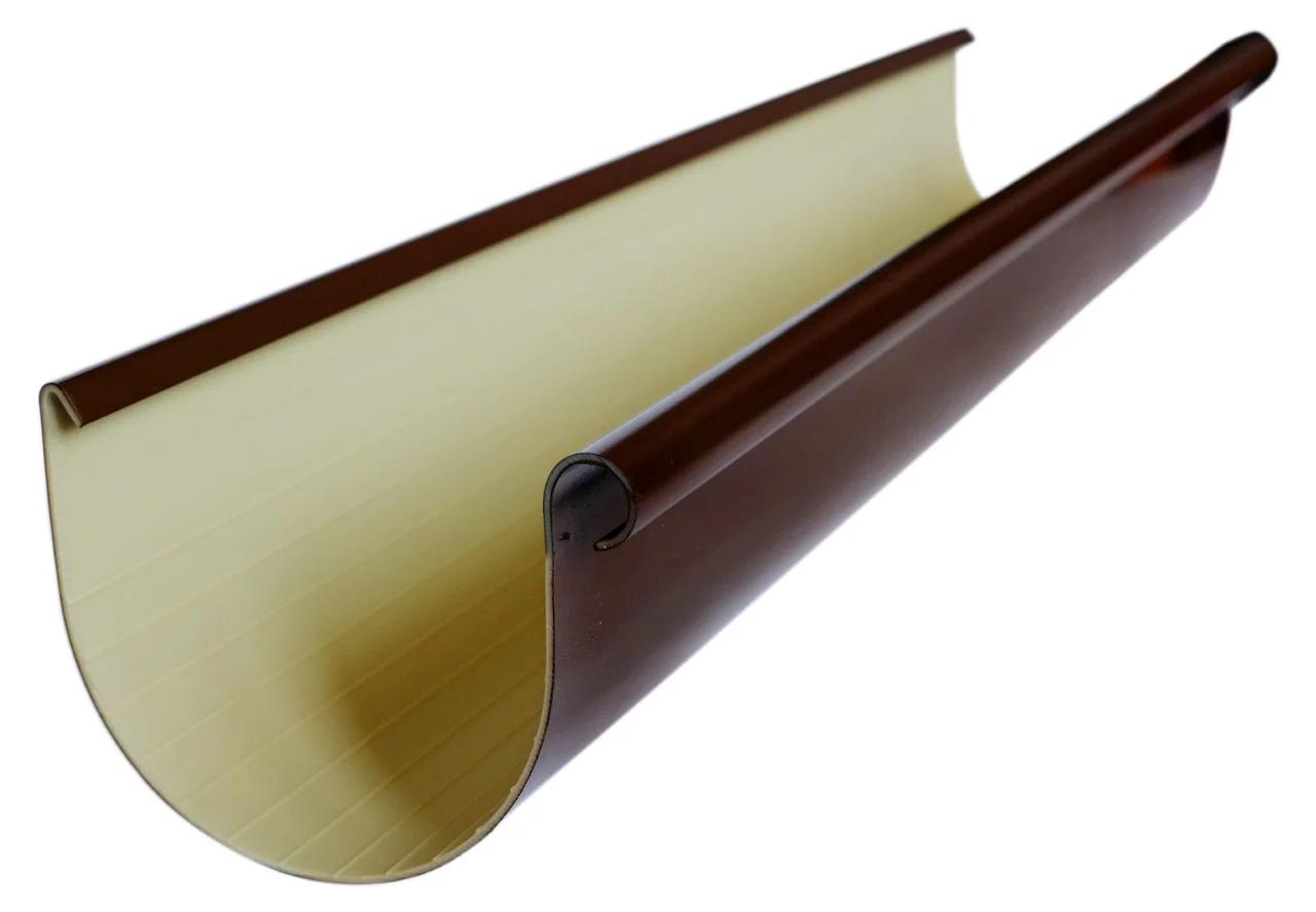 Желоб водосточный «Элит» d125мм 3м коричневый,графитовый