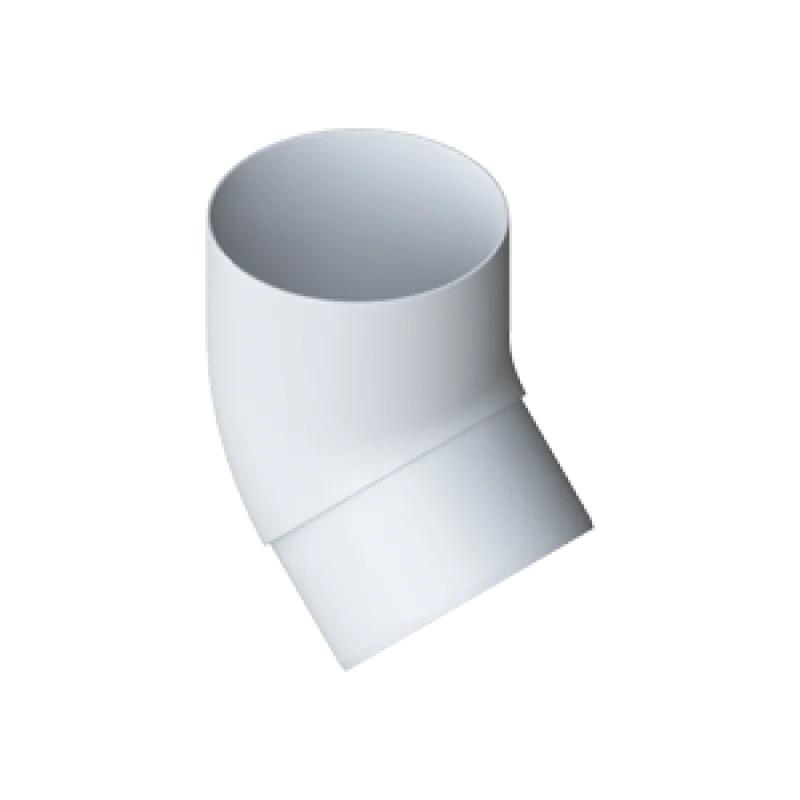 Колено трубы 45° «Элит» белое