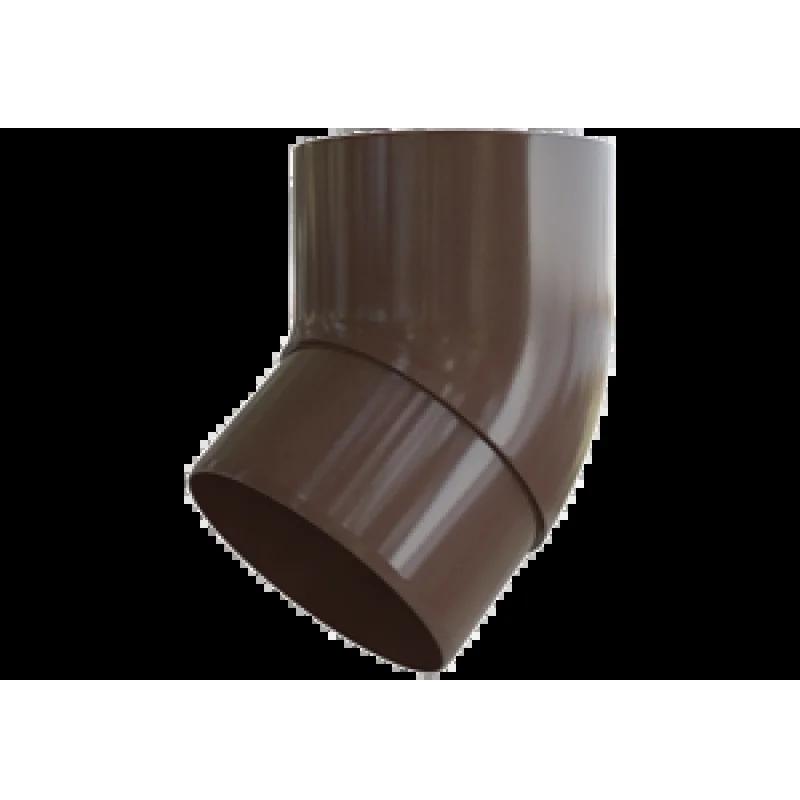 Колено трубы 45° «Элит» коричневое