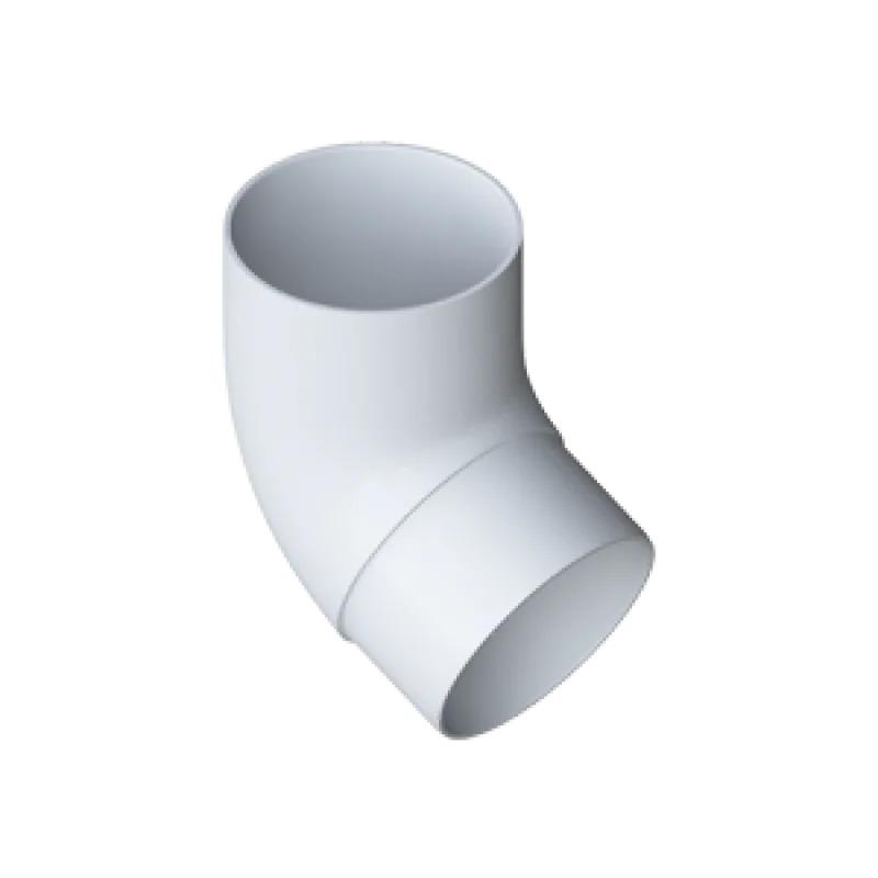 Колено трубы 67º «Элит» белое