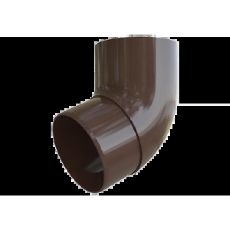 Колено трубы 67º «Элит» коричневое