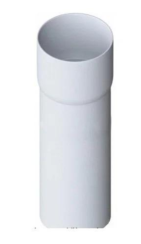 Труба водосточная с муфтой «Элит» белая d95мм  3м