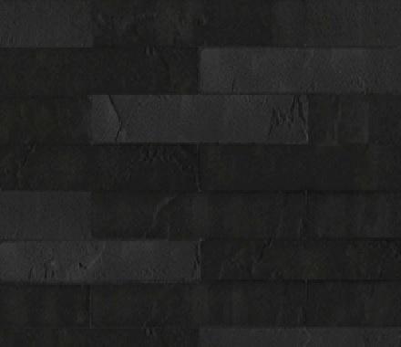 Кирпич гибкий на сетке FCRS06.56M3 (бесшовный, лонг формат) «Чёрный меланж»
