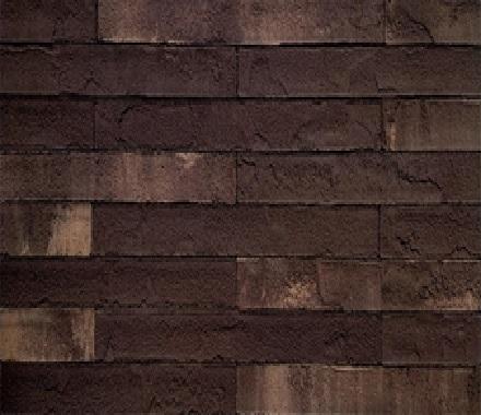 Кирпич  на сетке FCRS01010BM4 (бесшовный, лонг формат) «Чёрный шоколад с прожилками»