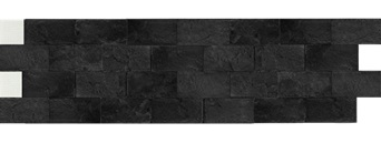 Камень гибкий на сетке FSS06TGBM4 (бесшовный, короткий формат) «Графит»