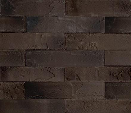 Кирпич гибкий на сетке FCRS09TGBM3 (бесшовный, лонг формат) «Коричневый с чёрным поджогом»