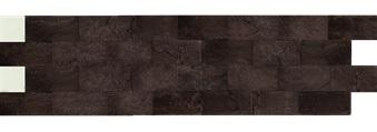 Камень гибкий на сетке FSS09TGBM4 (бесшовный, короткий формат) «Коричневый»