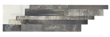 Камень гибкий на сетке FSLS39TGBM4 (бесшовный, формат «лапша») «Туф 3»
