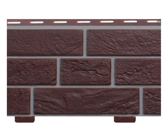 Стеновой сайдинг «Кирпич Славянка  коричневый прокрашенный»