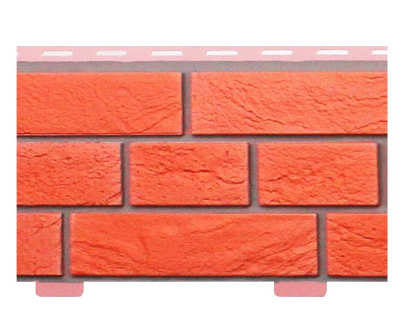 Стеновой сайдинг «Кирпич Славянка красный прокрашенный»